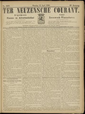Ter Neuzensche Courant. Algemeen Nieuws- en Advertentieblad voor Zeeuwsch-Vlaanderen / Neuzensche Courant ... (idem) / (Algemeen) nieuws en advertentieblad voor Zeeuwsch-Vlaanderen 1896-04-14