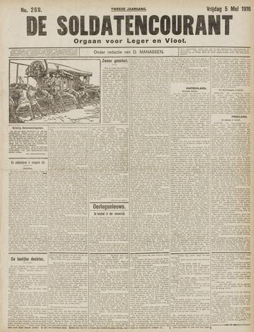 De Soldatencourant. Orgaan voor Leger en Vloot 1916-05-05