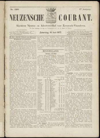 Ter Neuzensche Courant. Algemeen Nieuws- en Advertentieblad voor Zeeuwsch-Vlaanderen / Neuzensche Courant ... (idem) / (Algemeen) nieuws en advertentieblad voor Zeeuwsch-Vlaanderen 1877-06-16