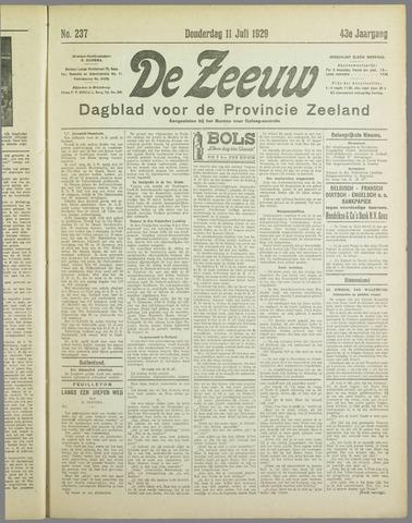 De Zeeuw. Christelijk-historisch nieuwsblad voor Zeeland 1929-07-11