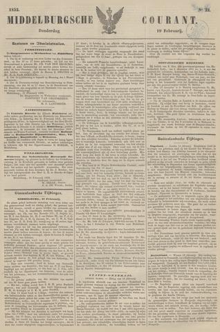Middelburgsche Courant 1852-02-19