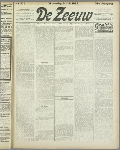 De Zeeuw. Christelijk-historisch nieuwsblad voor Zeeland 1924-07-09