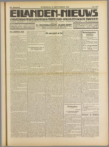 Eilanden-nieuws. Christelijk streekblad op gereformeerde grondslag 1940-09-18