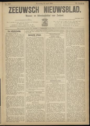 Ter Neuzensch Volksblad. Vrijzinnig nieuws- en advertentieblad voor Zeeuwsch- Vlaanderen / Zeeuwsch Nieuwsblad. Nieuws- en advertentieblad voor Zeeland 1918-04-10