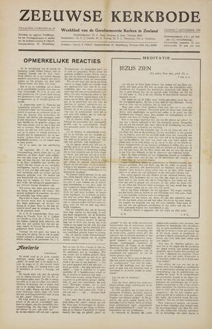 Zeeuwsche kerkbode, weekblad gewijd aan de belangen der gereformeerde kerken/ Zeeuwsch kerkblad 1956-09-07