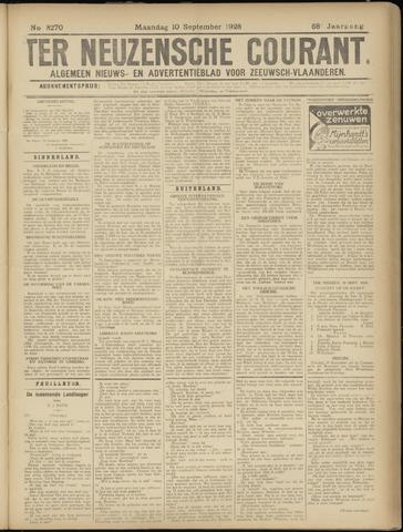 Ter Neuzensche Courant. Algemeen Nieuws- en Advertentieblad voor Zeeuwsch-Vlaanderen / Neuzensche Courant ... (idem) / (Algemeen) nieuws en advertentieblad voor Zeeuwsch-Vlaanderen 1928-09-10
