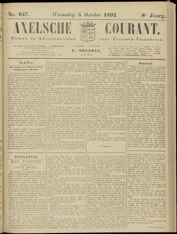 Axelsche Courant 1892-10-05