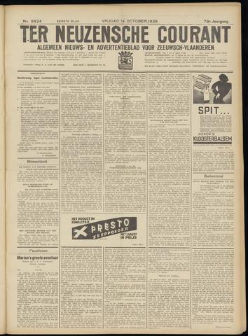 Ter Neuzensche Courant. Algemeen Nieuws- en Advertentieblad voor Zeeuwsch-Vlaanderen / Neuzensche Courant ... (idem) / (Algemeen) nieuws en advertentieblad voor Zeeuwsch-Vlaanderen 1938-10-14
