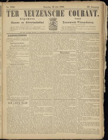 Ter Neuzensche Courant. Algemeen Nieuws- en Advertentieblad voor Zeeuwsch-Vlaanderen / Neuzensche Courant ... (idem) / (Algemeen) nieuws en advertentieblad voor Zeeuwsch-Vlaanderen 1892-07-23
