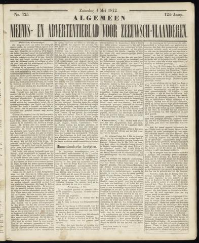 Ter Neuzensche Courant. Algemeen Nieuws- en Advertentieblad voor Zeeuwsch-Vlaanderen / Neuzensche Courant ... (idem) / (Algemeen) nieuws en advertentieblad voor Zeeuwsch-Vlaanderen 1872-05-04