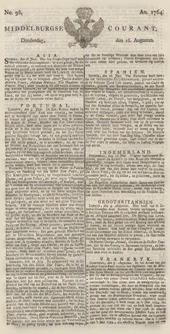 Middelburgsche Courant 1764-08-16