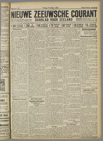 Nieuwe Zeeuwsche Courant 1923-03-16