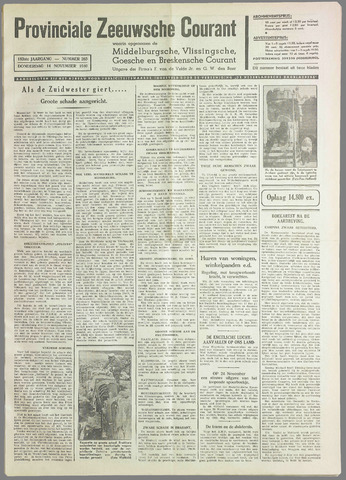 Provinciale Zeeuwse Courant 1940-11-14