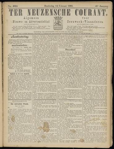 Ter Neuzensche Courant. Algemeen Nieuws- en Advertentieblad voor Zeeuwsch-Vlaanderen / Neuzensche Courant ... (idem) / (Algemeen) nieuws en advertentieblad voor Zeeuwsch-Vlaanderen 1901-02-14