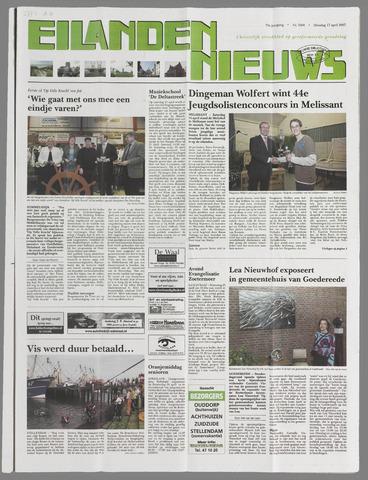Eilanden-nieuws. Christelijk streekblad op gereformeerde grondslag 2007-04-17