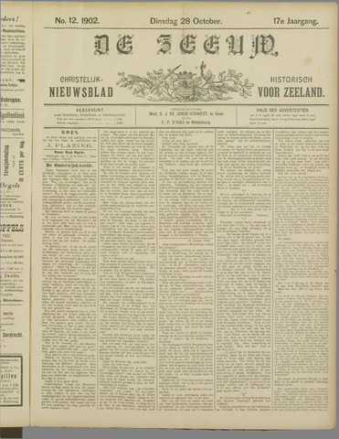 De Zeeuw. Christelijk-historisch nieuwsblad voor Zeeland 1902-10-28