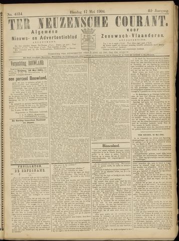 Ter Neuzensche Courant. Algemeen Nieuws- en Advertentieblad voor Zeeuwsch-Vlaanderen / Neuzensche Courant ... (idem) / (Algemeen) nieuws en advertentieblad voor Zeeuwsch-Vlaanderen 1904-05-17