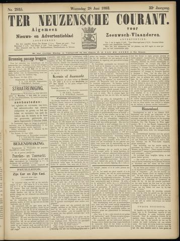 Ter Neuzensche Courant. Algemeen Nieuws- en Advertentieblad voor Zeeuwsch-Vlaanderen / Neuzensche Courant ... (idem) / (Algemeen) nieuws en advertentieblad voor Zeeuwsch-Vlaanderen 1893-06-28