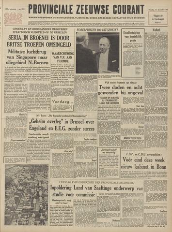 Provinciale Zeeuwse Courant 1962-12-11