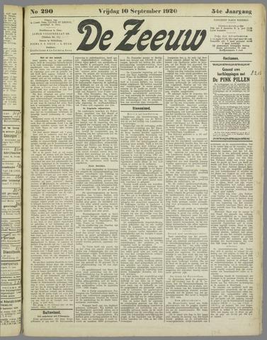 De Zeeuw. Christelijk-historisch nieuwsblad voor Zeeland 1920-09-10