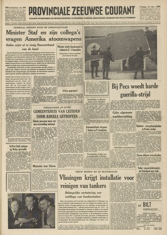 Provinciale Zeeuwse Courant 1956-12-14