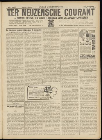 Ter Neuzensche Courant. Algemeen Nieuws- en Advertentieblad voor Zeeuwsch-Vlaanderen / Neuzensche Courant ... (idem) / (Algemeen) nieuws en advertentieblad voor Zeeuwsch-Vlaanderen 1938-11-04