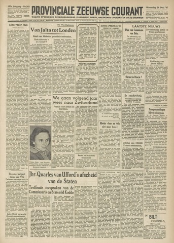 Provinciale Zeeuwse Courant 1947-12-24