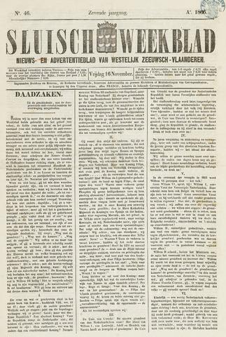 Sluisch Weekblad. Nieuws- en advertentieblad voor Westelijk Zeeuwsch-Vlaanderen 1866-11-16
