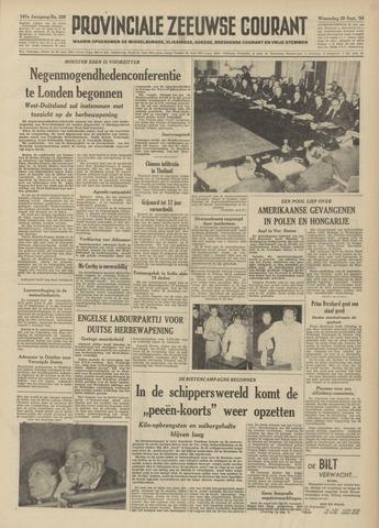 Provinciale Zeeuwse Courant 1954-09-29