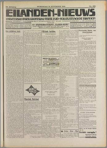 Eilanden-nieuws. Christelijk streekblad op gereformeerde grondslag 1940-11-20