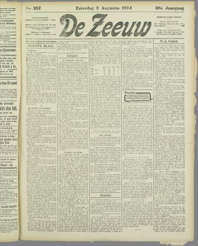 De Zeeuw. Christelijk-historisch nieuwsblad voor Zeeland 1924-08-02