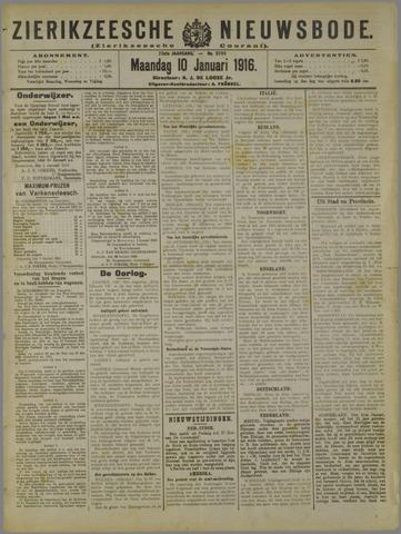Zierikzeesche Nieuwsbode 1916-01-10