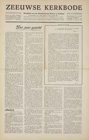 Zeeuwsche kerkbode, weekblad gewijd aan de belangen der gereformeerde kerken/ Zeeuwsch kerkblad 1956-09-21