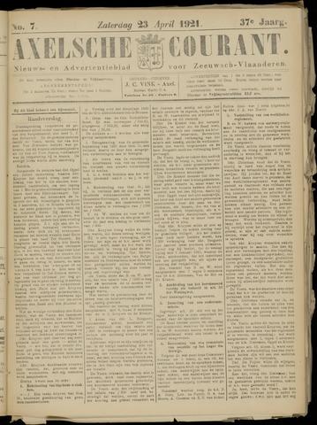 Axelsche Courant 1921-04-23