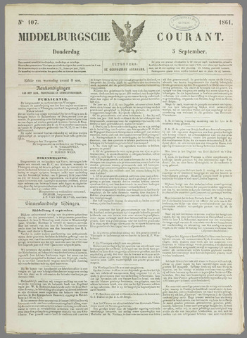 Middelburgsche Courant 1861-09-05