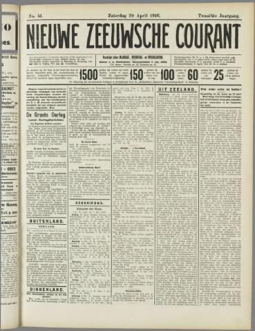 Nieuwe Zeeuwsche Courant 1916-04-29