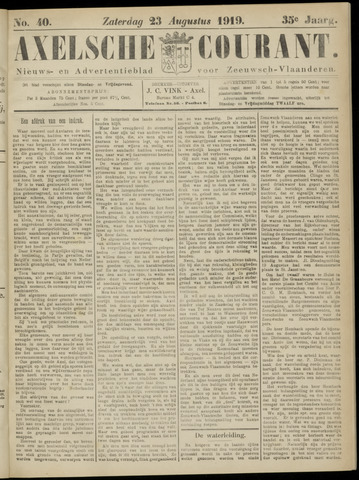 Axelsche Courant 1919-08-23