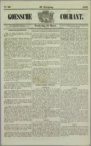Goessche Courant 1859-03-31