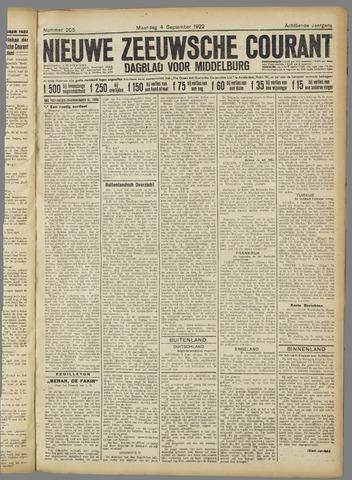 Nieuwe Zeeuwsche Courant 1922-09-04