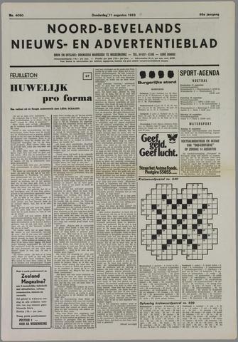 Noord-Bevelands Nieuws- en advertentieblad 1983-08-11