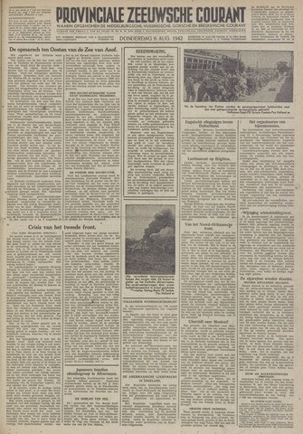 Provinciale Zeeuwse Courant 1942-08-06