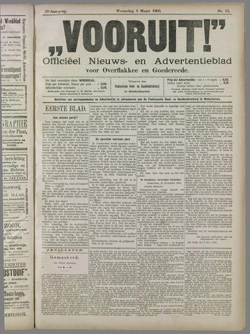 """""""Vooruit!""""Officieel Nieuws- en Advertentieblad voor Overflakkee en Goedereede 1905-03-08"""