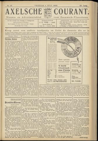 Axelsche Courant 1938-07-08
