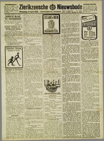 Zierikzeesche Nieuwsbode 1926-04-14