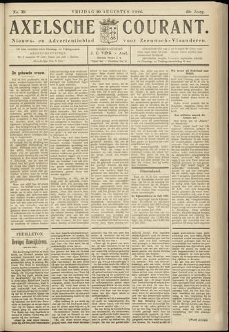 Axelsche Courant 1926-08-20