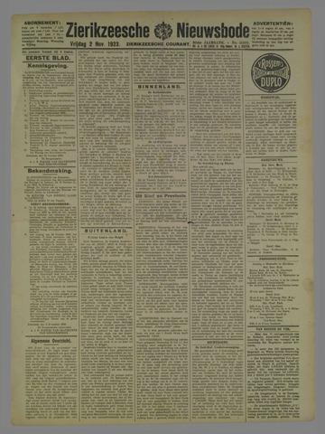Zierikzeesche Nieuwsbode 1923-11-02