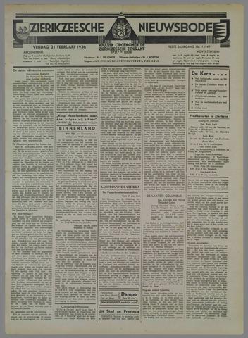 Zierikzeesche Nieuwsbode 1936-02-21