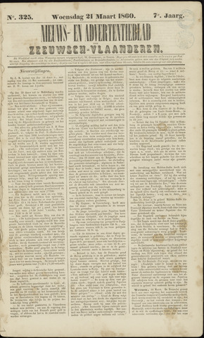 Ter Neuzensche Courant. Algemeen Nieuws- en Advertentieblad voor Zeeuwsch-Vlaanderen / Neuzensche Courant ... (idem) / (Algemeen) nieuws en advertentieblad voor Zeeuwsch-Vlaanderen 1860-03-21