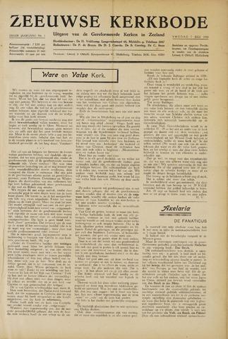Zeeuwsche kerkbode, weekblad gewijd aan de belangen der gereformeerde kerken/ Zeeuwsch kerkblad 1950-07-07