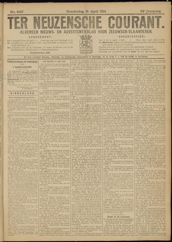 Ter Neuzensche Courant. Algemeen Nieuws- en Advertentieblad voor Zeeuwsch-Vlaanderen / Neuzensche Courant ... (idem) / (Algemeen) nieuws en advertentieblad voor Zeeuwsch-Vlaanderen 1914-04-16